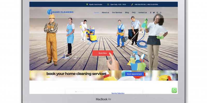 Shams Cleaning – Book your cleaning job with us!